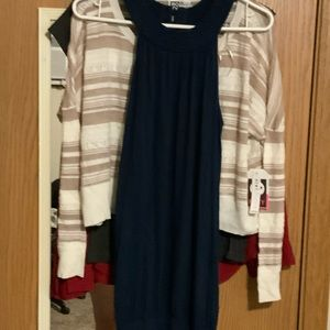 Forever 21 mini dark blue dress size l